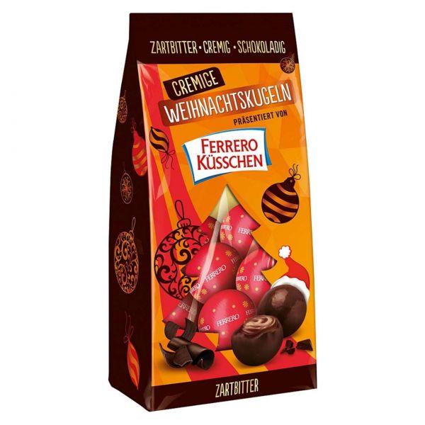 Ferrero Küsschen cremige Weihnachtskugeln, Zartbitter