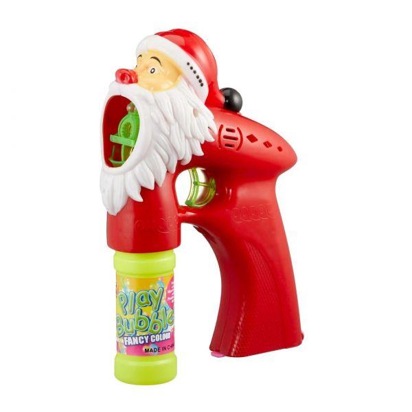 Seifenblasenpistole Weihnachtsmann, mit Licht