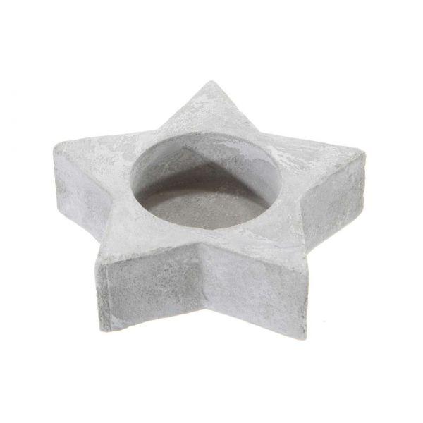 Teelicht Halter Stern, Zement
