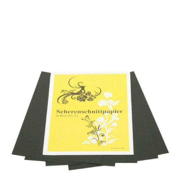 Scherenschnittpapier A4, 20 Blatt