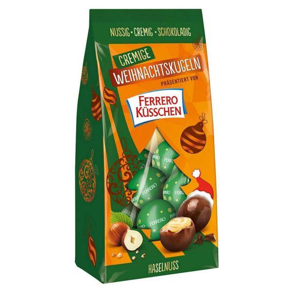 Ferrero Küsschen cremige Weihnachtskugeln, Haselnuss
