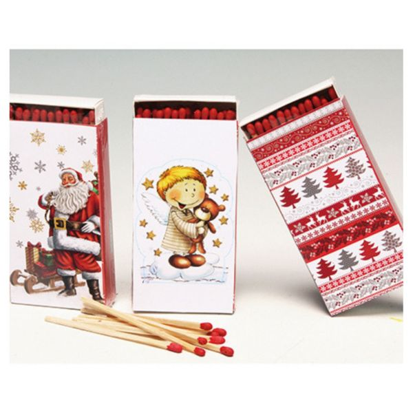 Zündhölzer Weihnachten, 50 Stück, sortiert