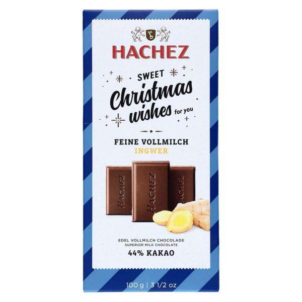 Hachez Weihnachtsschokolade, Feine Vollmilch Ingwer, 100 g