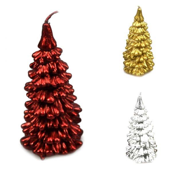 Kerze Weihnachtsbaum,10,5 cm, sortiert
