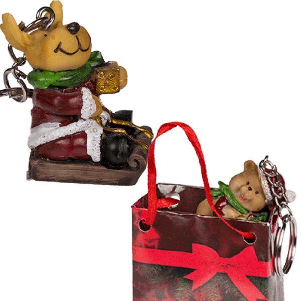 """Weihnachtsschlüsselanhänger """"Rentier"""""""