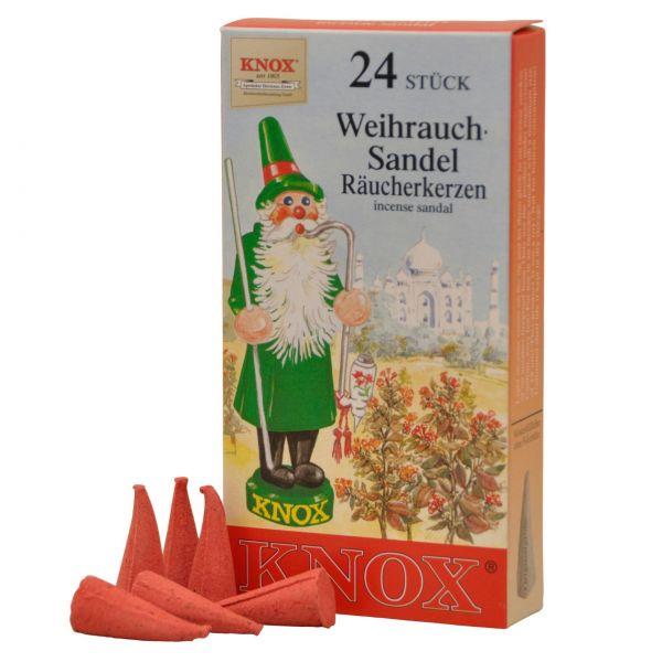 "Knox Räucherkerzen ""Sandelduft"", 24 Stück"