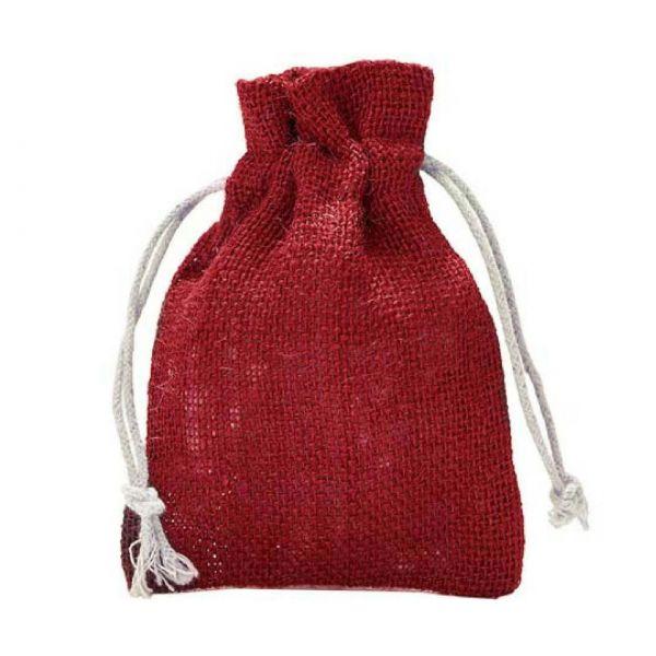 Jutesäckchen, rot, 23 x 15 cm