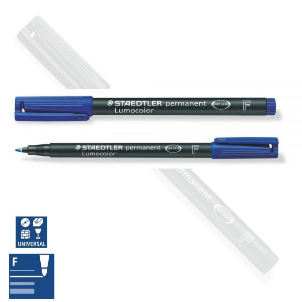 BB Folienstift wasserfest, fein (F), blau, Staedtler