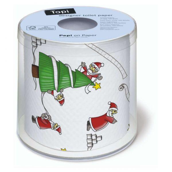 Weihnachtstoilettenpapier Santa so busy
