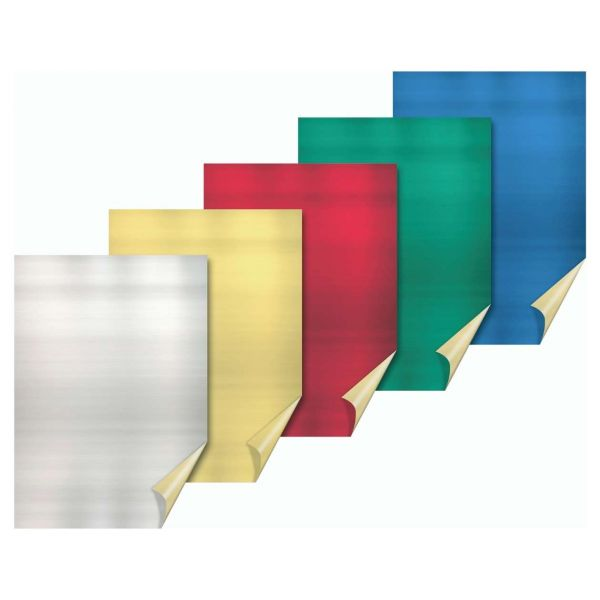 Bastel Alufolie A4, 5 Farben
