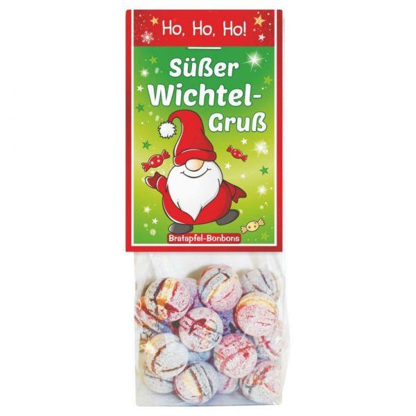 Weihnachtsbonbons Bratapfel, Wichtelgruß, 80 g
