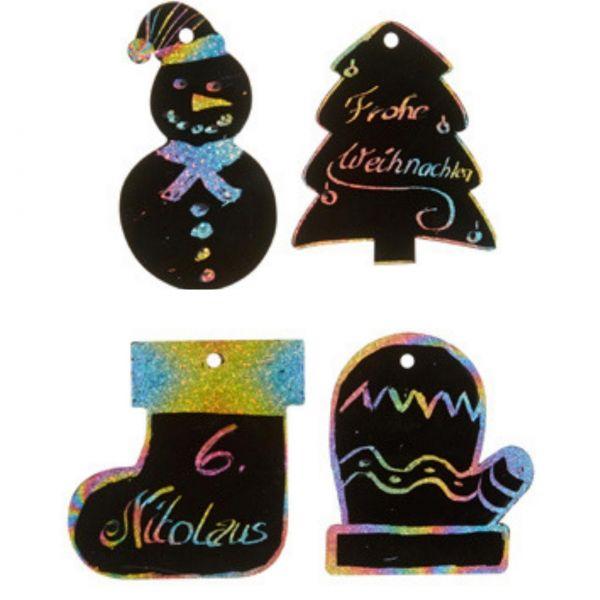 Kratzpapier Set Weihnachten, sortiert