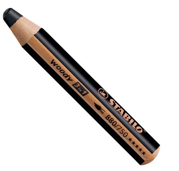 Buntstifte für Kleinkinder: Stabilo woody schwarz - 750