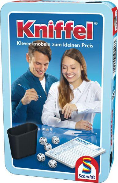 Kniffel, Reisespiel in Metalldose