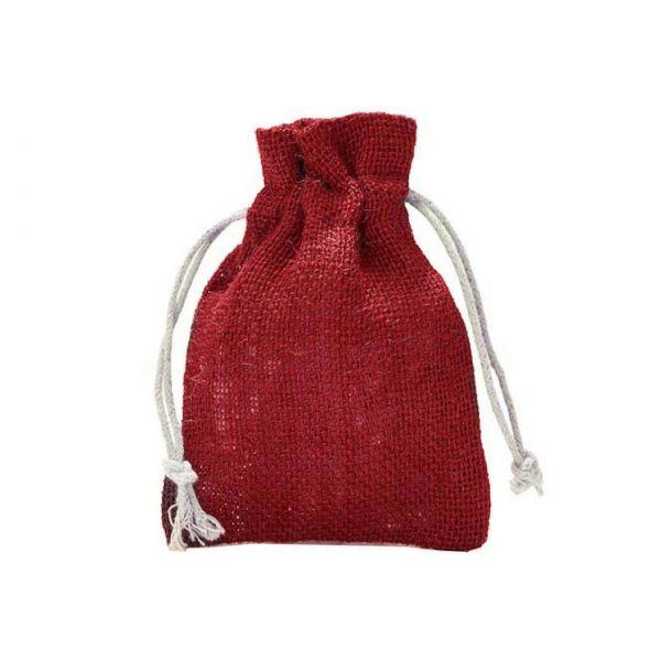 Jutesäckchen, rot, 15 x 10 cm
