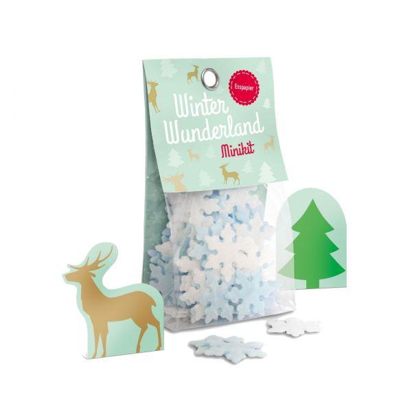 Winterwunderland Esspapier Minikit