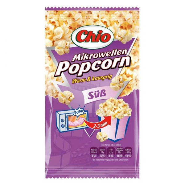 Mikrowellen Popcorn süß, Chio