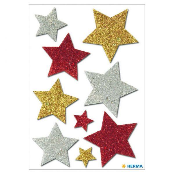 Stern Aufkleber: Bunt glittery
