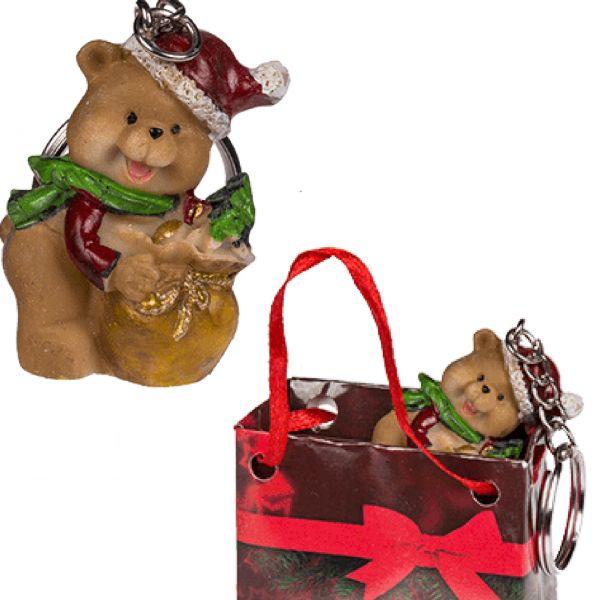 "Weihnachtsschlüsselanhänger ""Teddybär"""