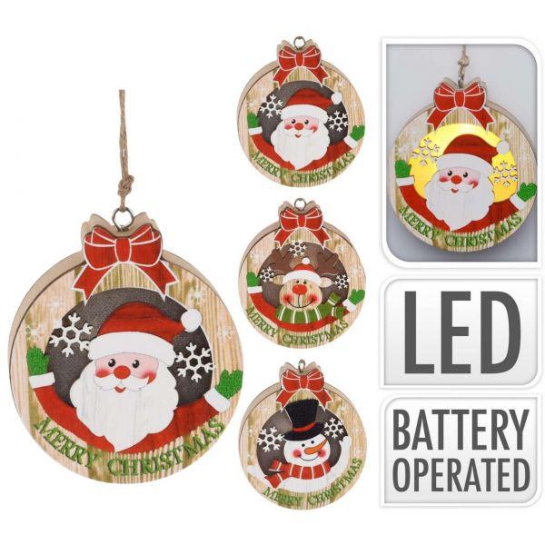 LED Anhänger Weihnachten Kranz, sortiert