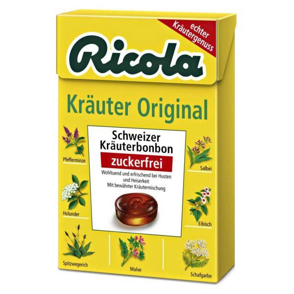Ricola Kräuter Original zuckerfrei, Box