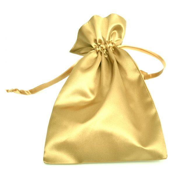 Satinbeutel gold, 23 x 15 cm