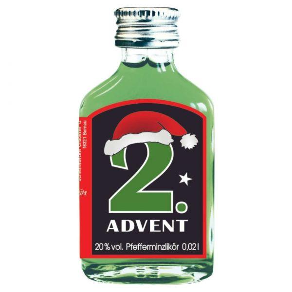 Adventslikör Pfefferminz, 4x Adventssonntag, je 2 cl