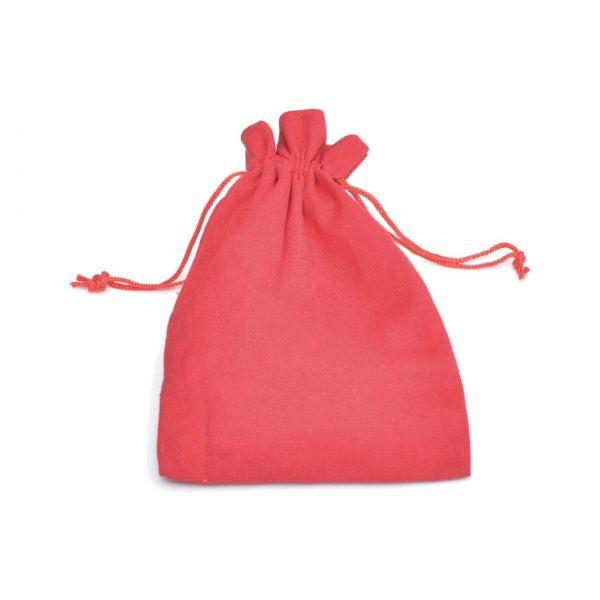 Baumwollsäckchen rot, 15 x 10 cm
