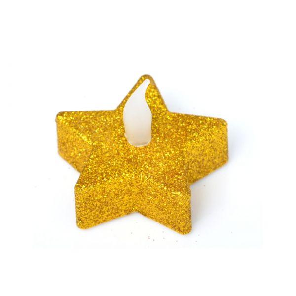 Teelichter LED: Stern gold