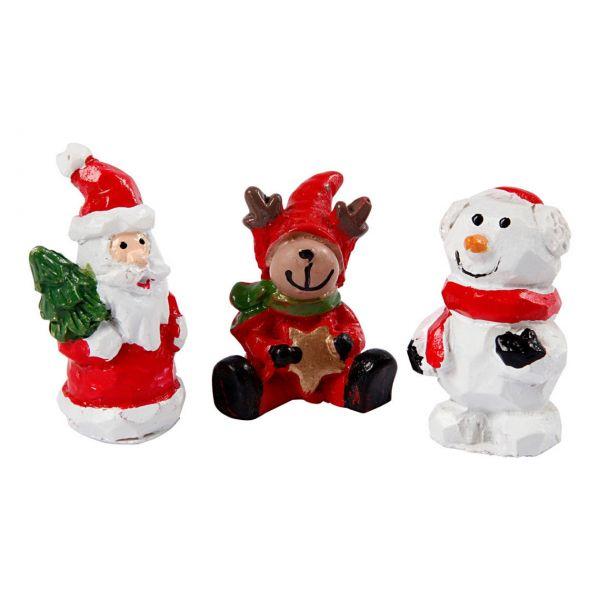 Kleine Weihnachtsfiguren, 3er-Set