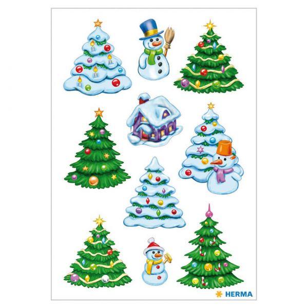Sticker Weihnachten: Weihnachtswinterwald
