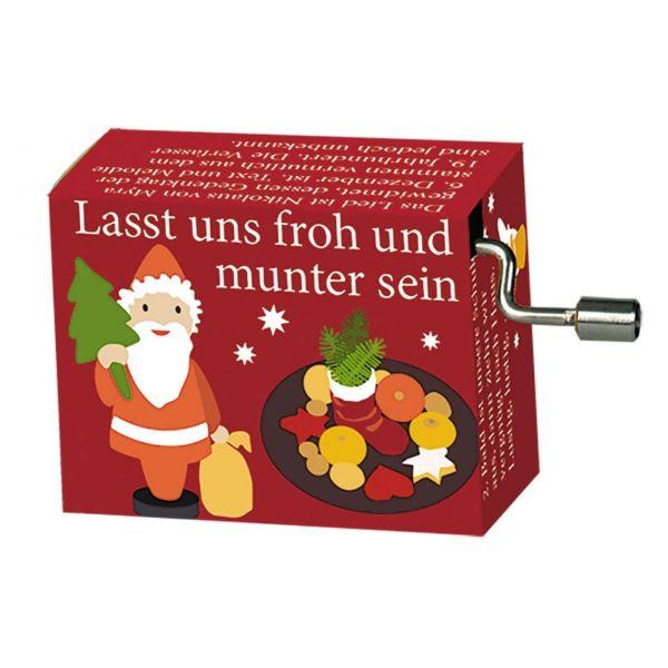 """Weihnachtsspieluhr, """"Last und froh & munter sein"""""""