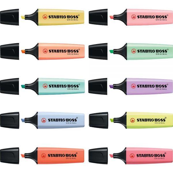 Pastell Textmarker Stabilo Boss