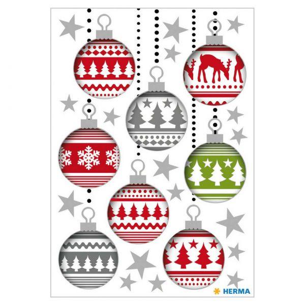 Sticker Weihnachten: Christbaumkugeln