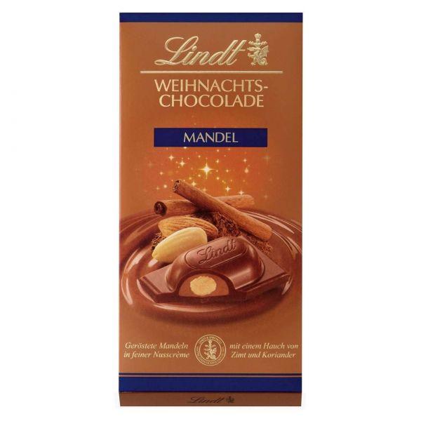 Lindt Weihnachtsschokolade Mandel, 100 g