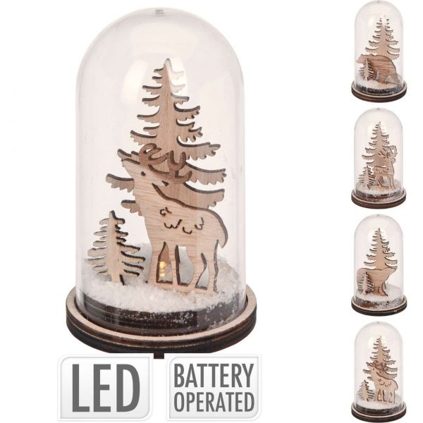Weihnachtsszene LED, Tiermotiv, sortiert