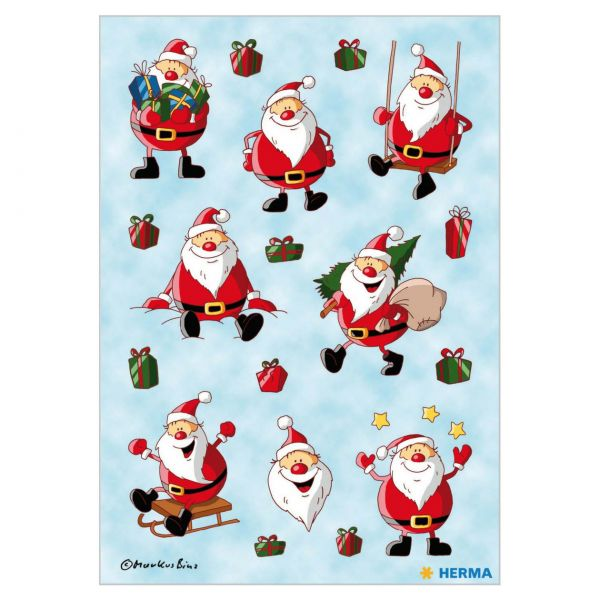 Sticker Weihnachten: Weihnachtsmann