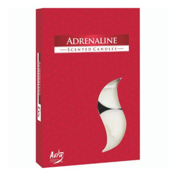 Duftteelichter Adrenalin, 6er Packung