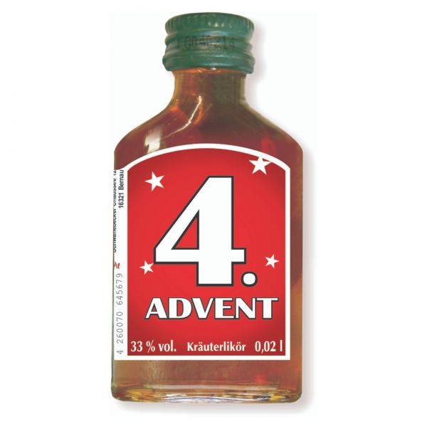 Adventslikör, 4x Adventssonntag, je 2 cl