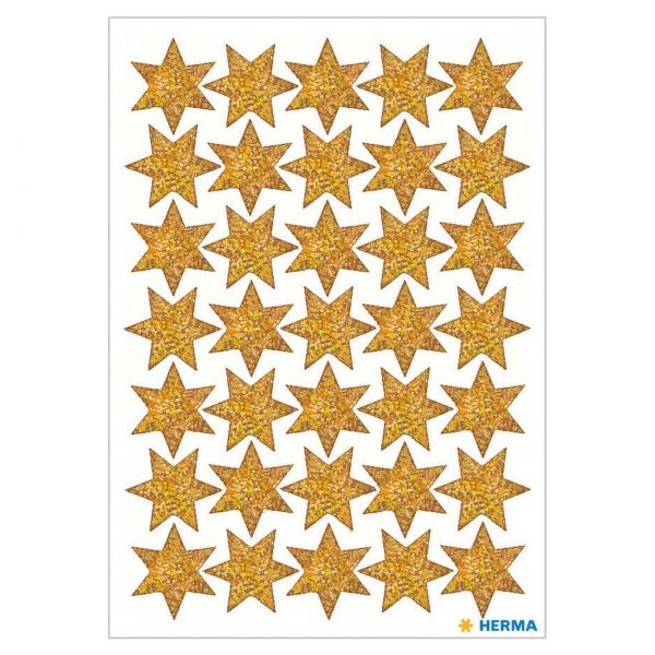 Stern Aufkleber: Gold beglimmert