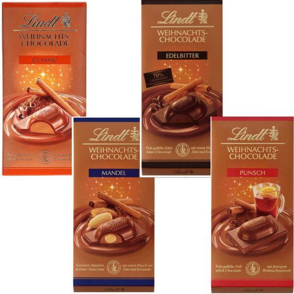 Lindt Weihnachtsschokolade, verschiedene Sorten, 100 g
