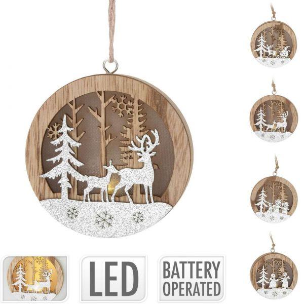 Hängedeko Weihnachten mit LED, sortiert