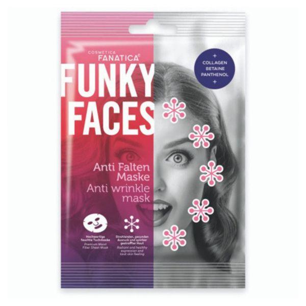 Tuchmaske Anti Falten, Funky Faces
