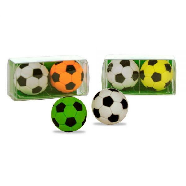 Radiergummi Kinder Kick-it Fußball, 2er Set
