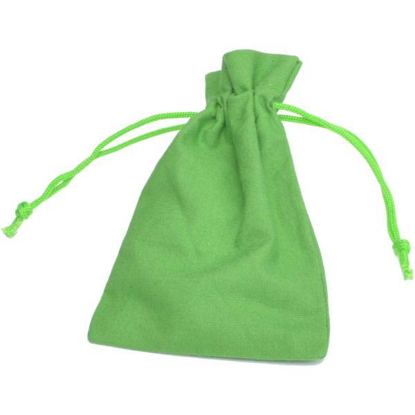 Baumwollbeutel grün, 20 x 12 cm