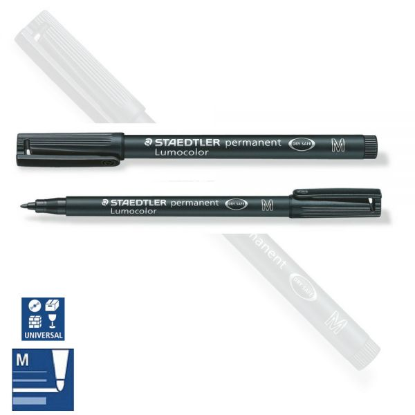 BB Folienstift permanent M, medium, schwarz, Staedtler