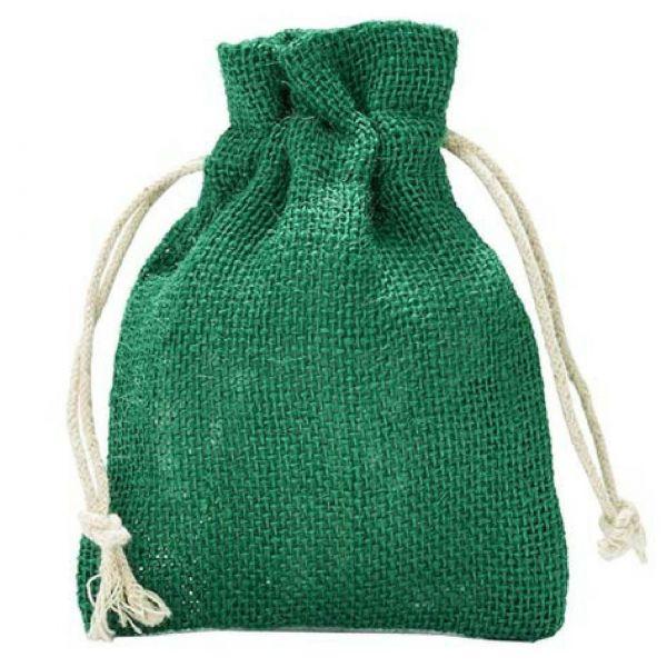 Jutesack, grün, 40 x 30 cm