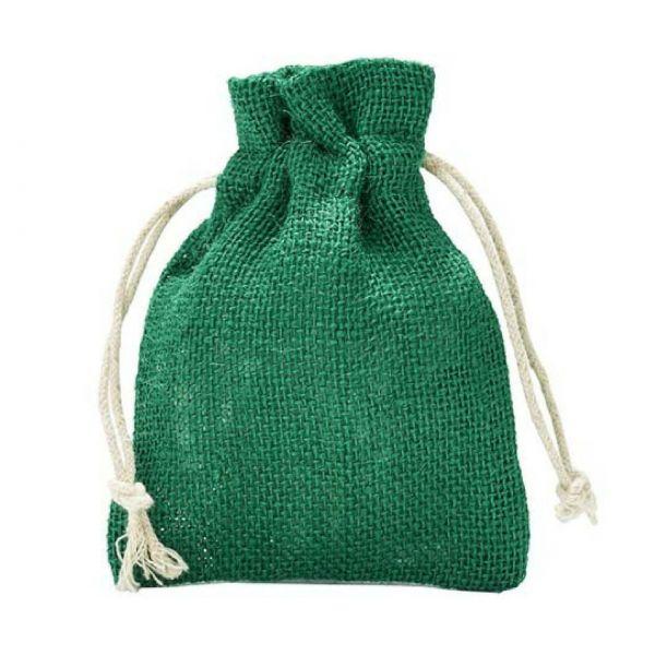 Jutesäckchen, grün, 23 x 15 cm