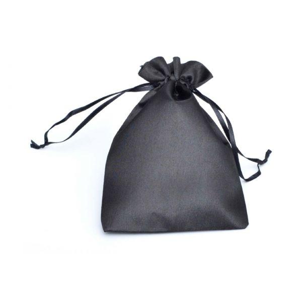 Satinsäckchen schwarz, 15 x 10 cm