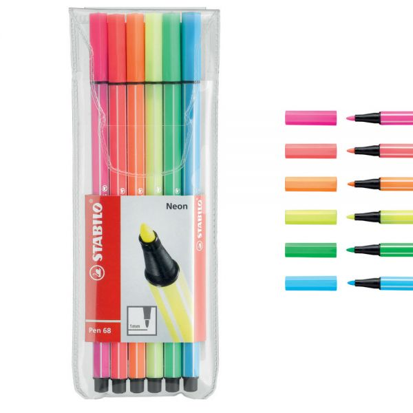 Stabilo Pen 68 Neon, 6 Farben